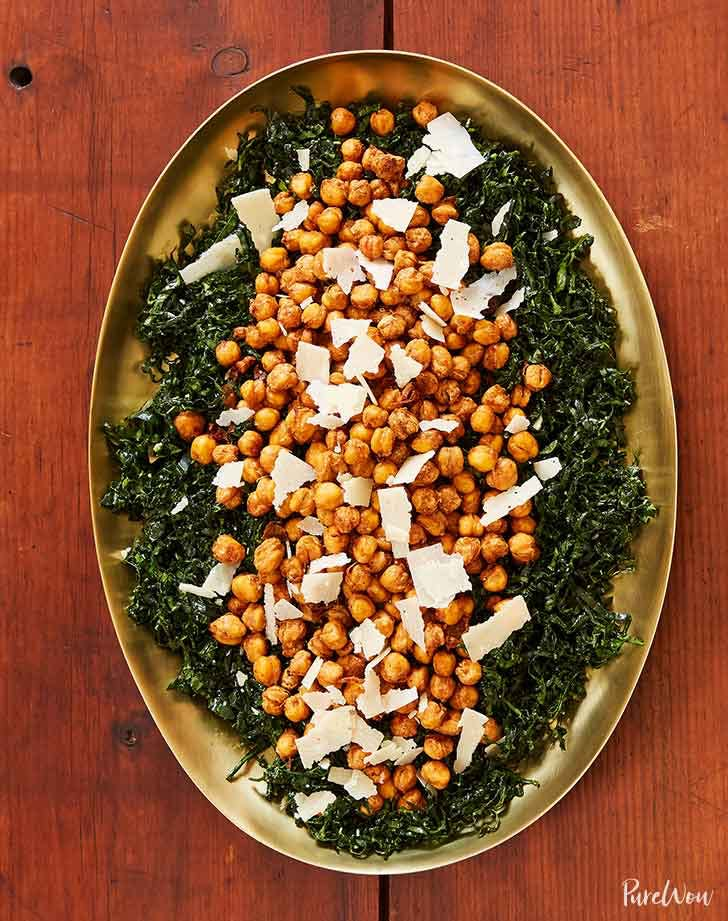 kale salad with crispy chickpeas 921