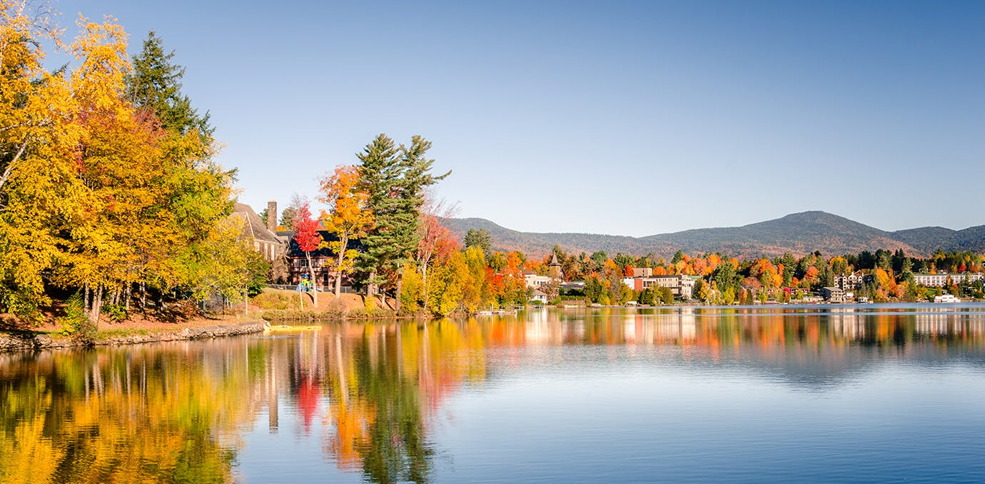 lake placid new york fall leaves travel