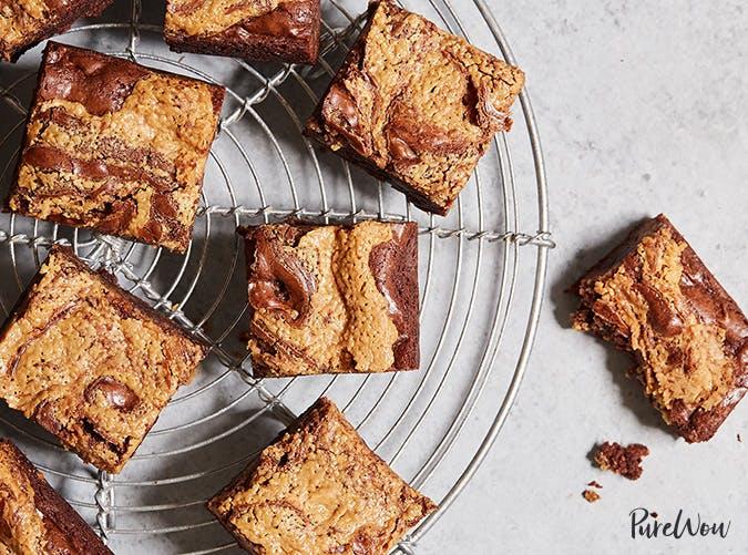 leftover reesees brownies