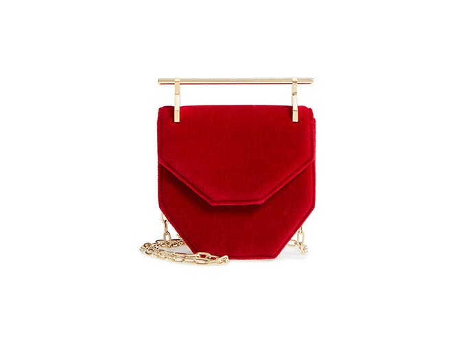 m2malletier red mini bag