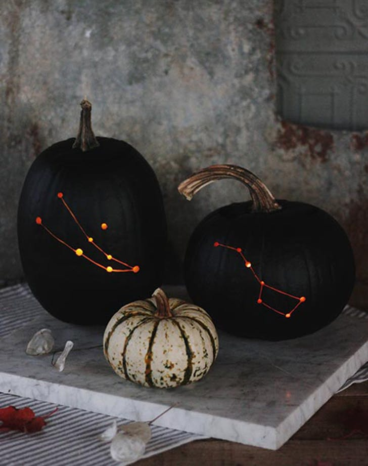 matte black constellation pumpkin 728