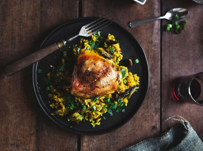 middle eastern spiced chicken with baked rice 501