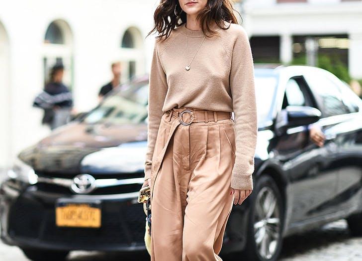 monochromatic sweater pants nyfw outfits NY