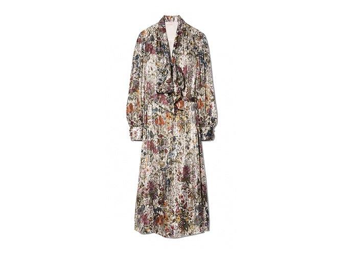 moody floral midi dress