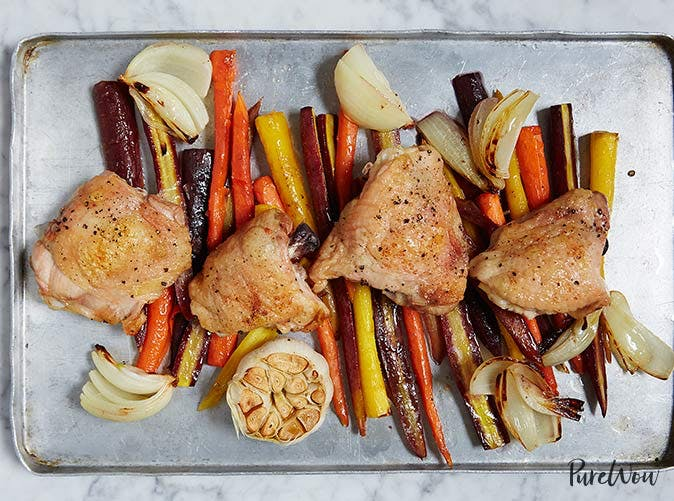 one pan roasted chicken with carrots 501