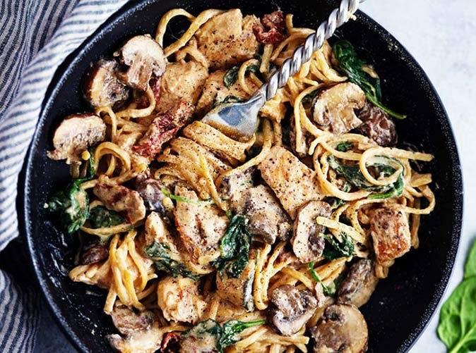 one pot chicken florentine pasta 501