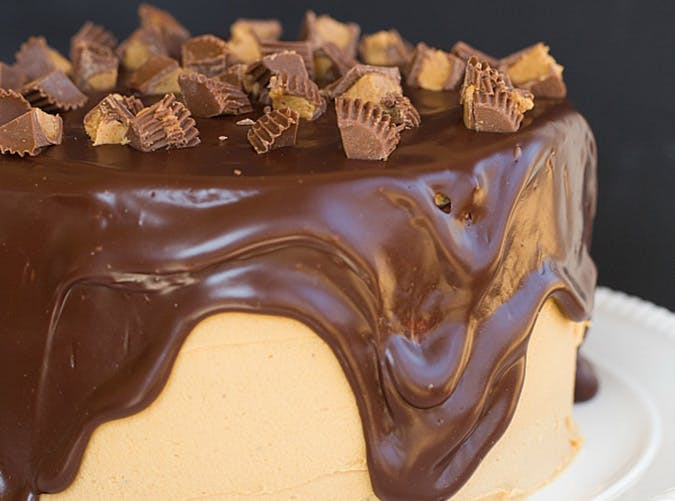peanut butter cup overload cake