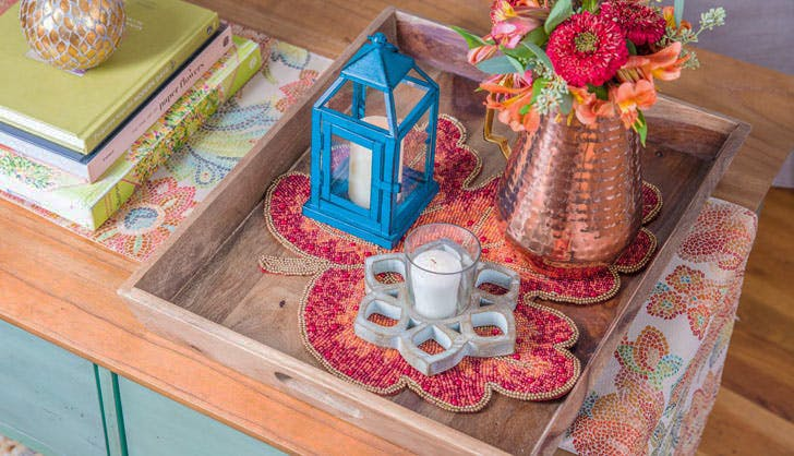 pier 1 coffee table styling