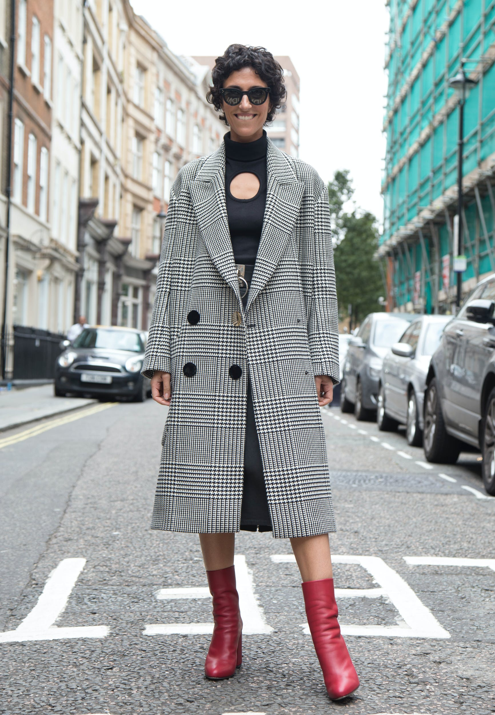 plaid and check overcoats fall coat trends