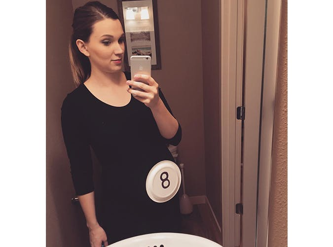 pregnant halloween costumes eight ball SLIDE