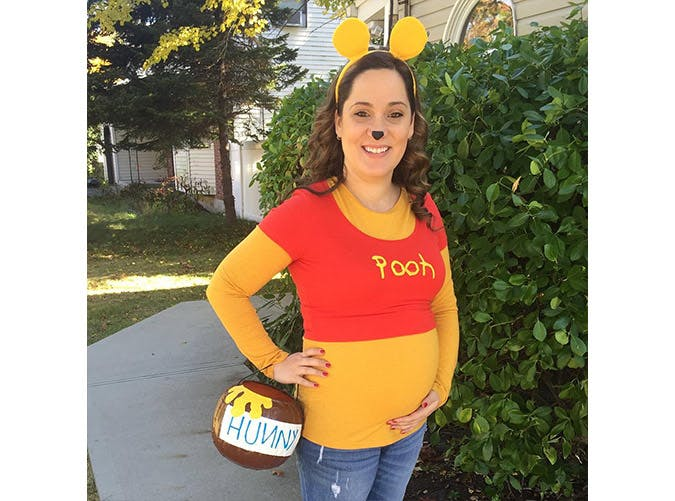 pregnant halloween costumes winnie the pooh SLIDE