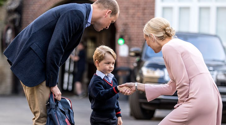 It's Prince George's First Day of School Today, and He Looks Totally Thrilled