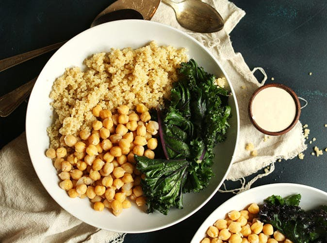 quinoa chickpea buddha bowls with kale and tahini sauce 501