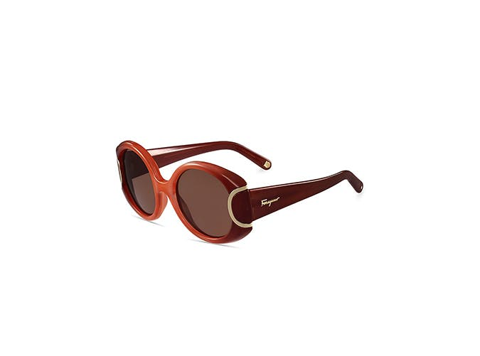 red statement sunglasses