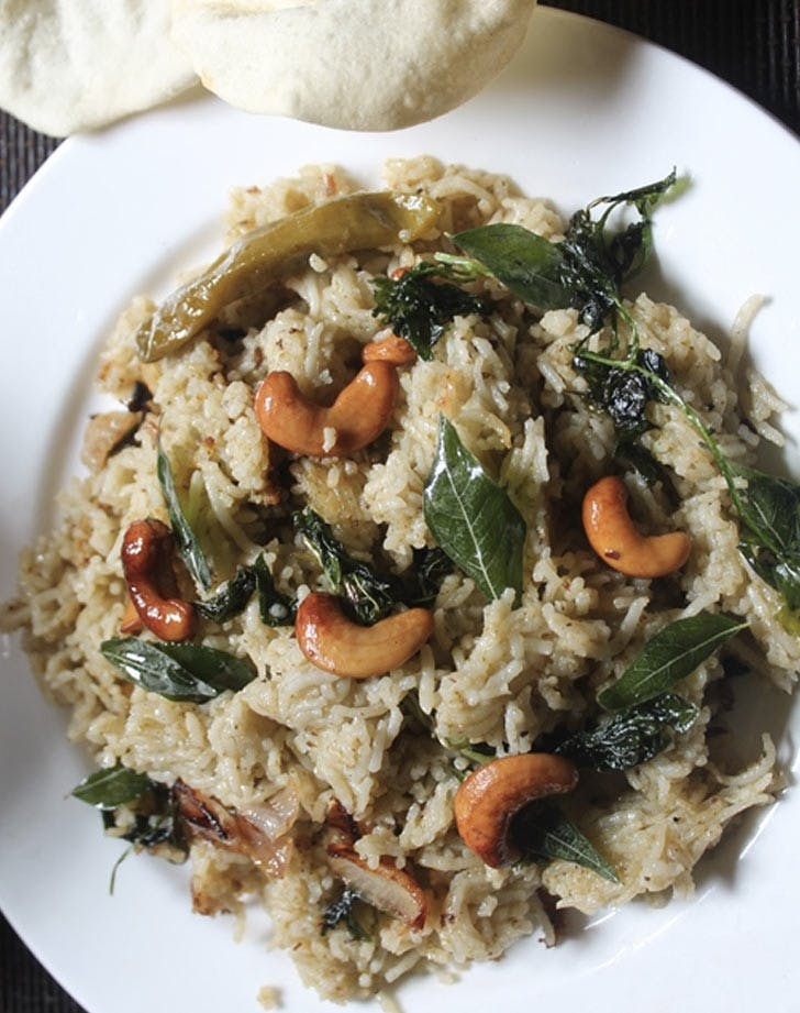 rice with ghee LIST