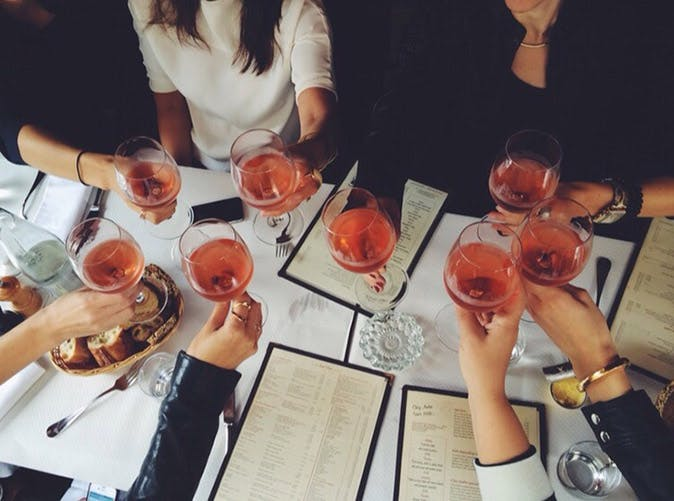 rose wine cheers