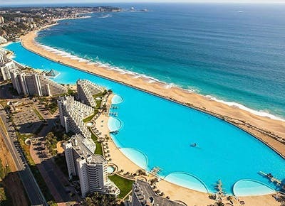 Worlds Largest Outdoor Pool At Chiles San Alfonso Del Mar Resort >> World S Largest Swimming Pool At San Alfonso Del Mar Purewow