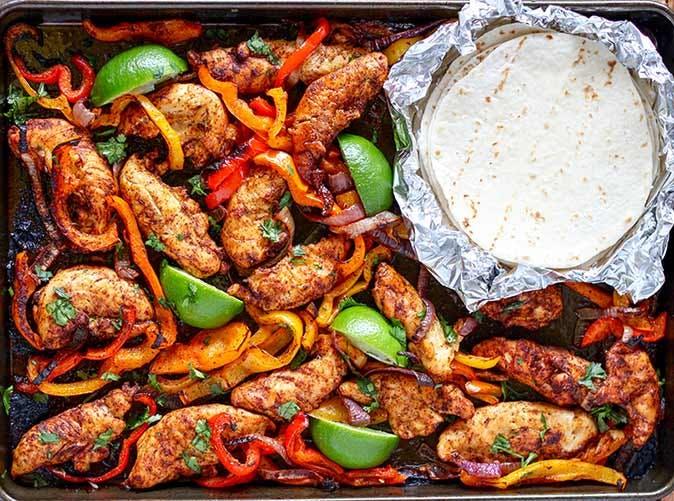 sheet pan chicken fajitas 501