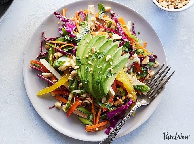 shredded avocado thai salad 501