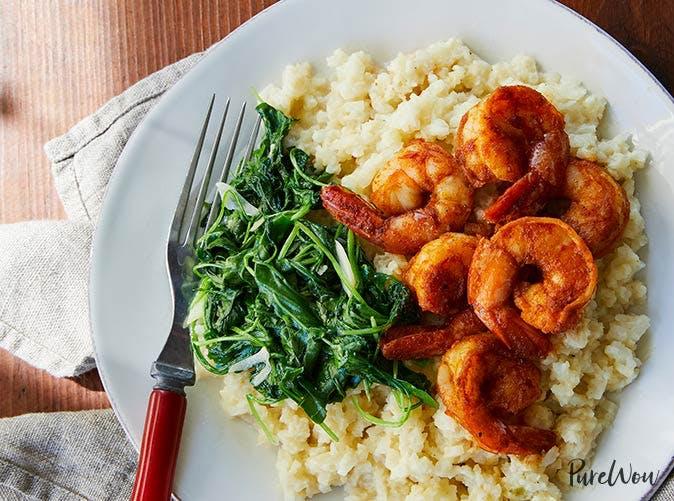 shrimp and cauliflower grits 501