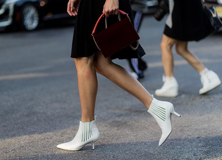 street style white boot