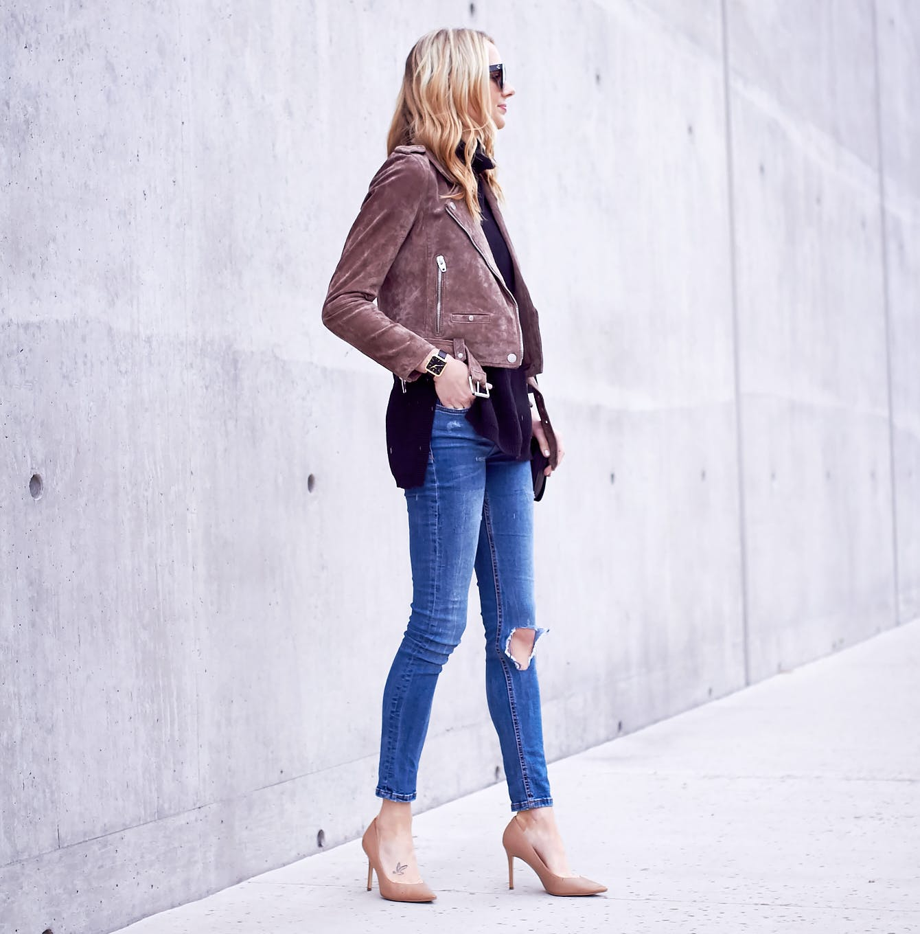 suede moto jackets fall coat trends
