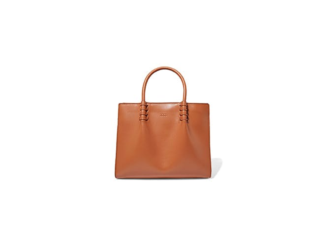 tods mini leather tote