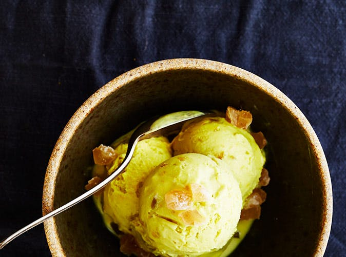 turmeric candied ginger dairy free ice cream 501