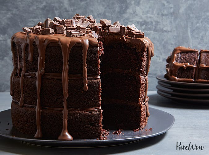 ultimate hersheys layer cake made with leftover candy