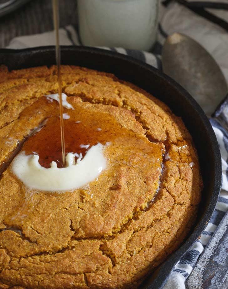 vanilla pumpkin skillet cornbread 921