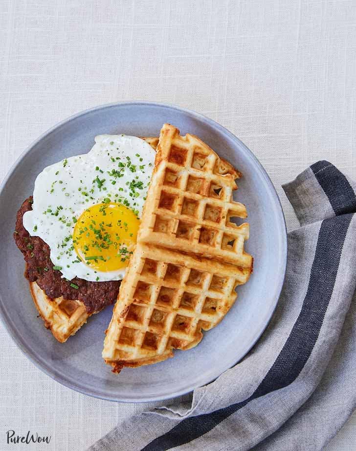 waffle breakfast sandwich 921