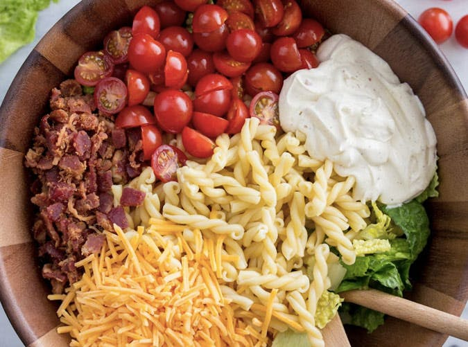 15 minute blt pasta salad SLIDE