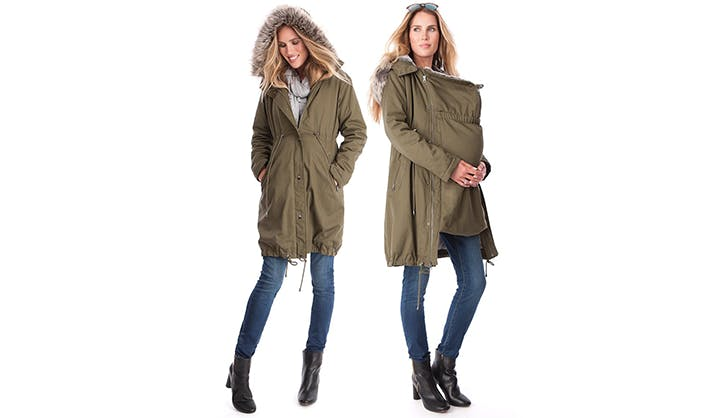 3 in 1 parka seraphine maternity clothing