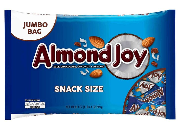 Almond Joy Jumbo size for Halloween allergy friendly treats