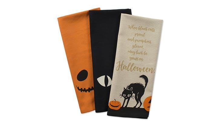 Amazon halloween decor   Halloween dish towels