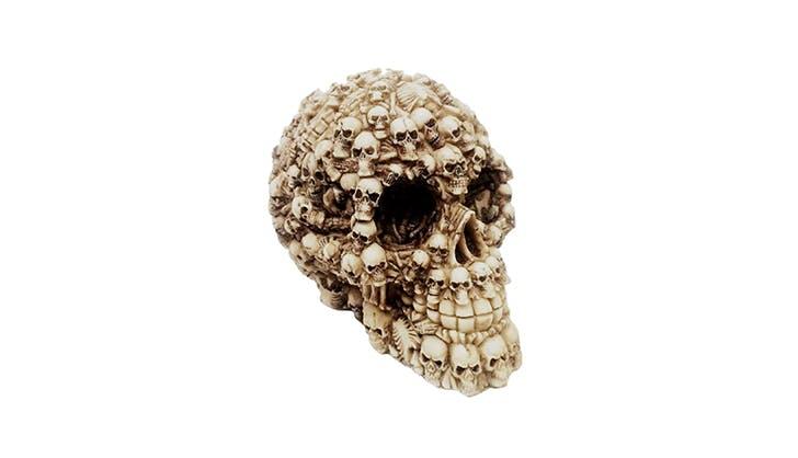 Amazon halloween decor   Skull sculpture
