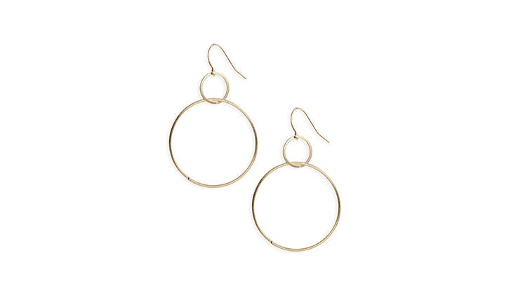 BP Double Hoop Gold Earrings