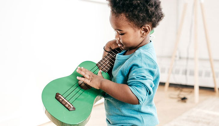 Baby with guitar