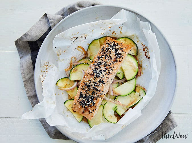 Baked Sesame Ginger Salmon in Parchment