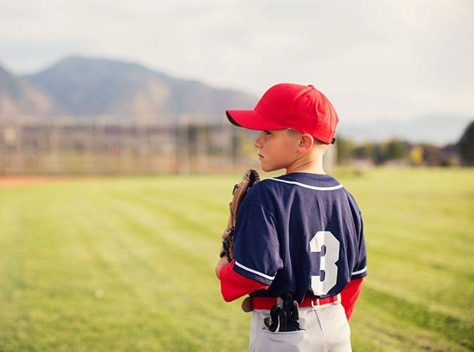 Baseball player kid