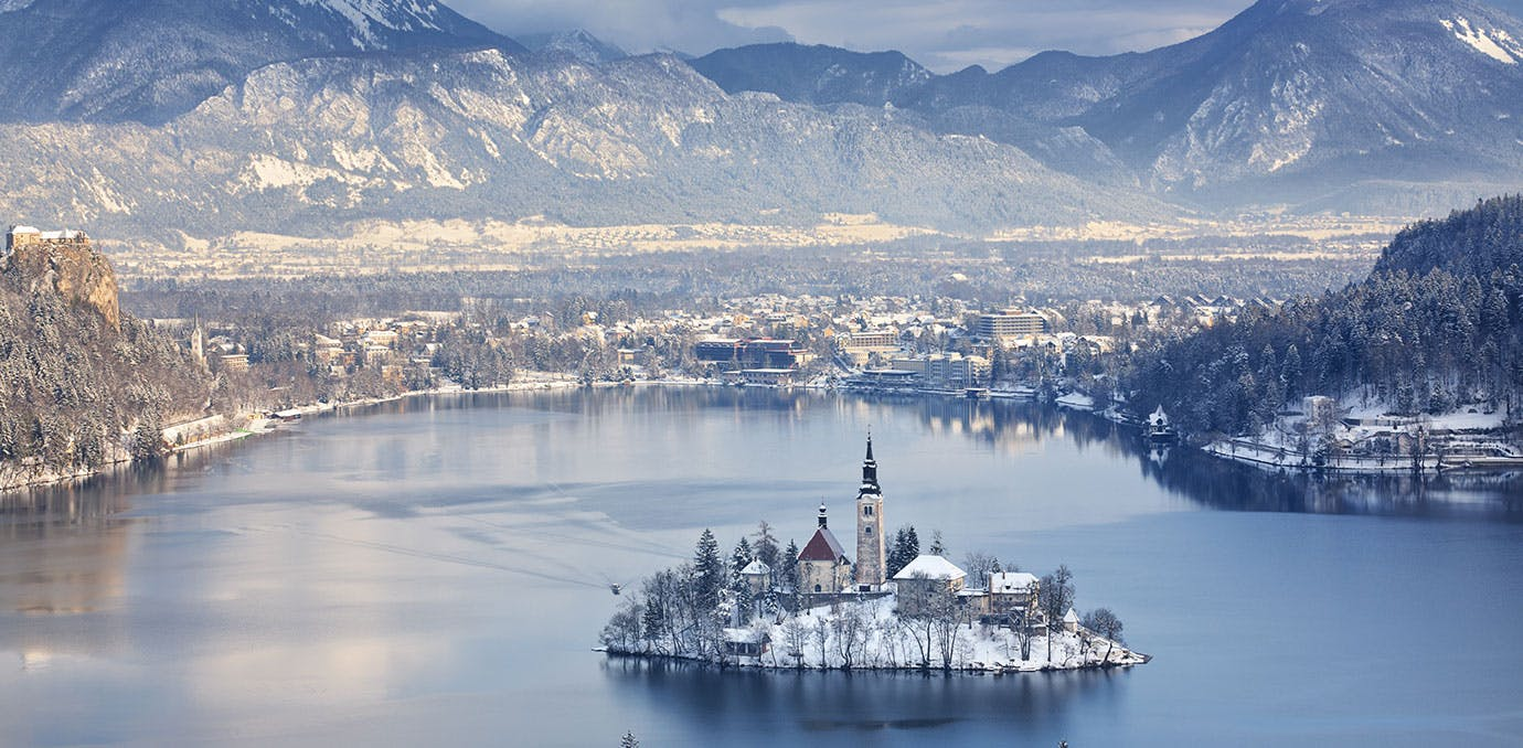 Bled Slovenia in the winter