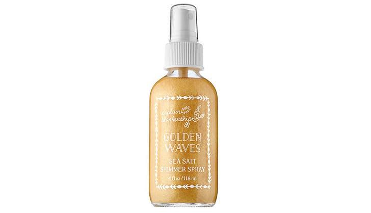 Captain Blankenship Golden Waves Sea Salt Shimmer Spray natural beauty gift guide