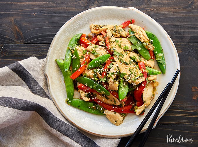 Chicken and Snap Pea Stir Fry november meal ideas