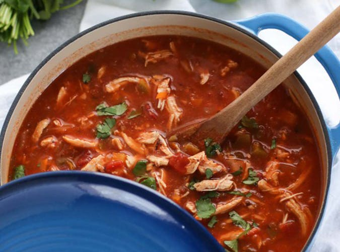 Chicken Tortilla Less Soup whole30 recipes
