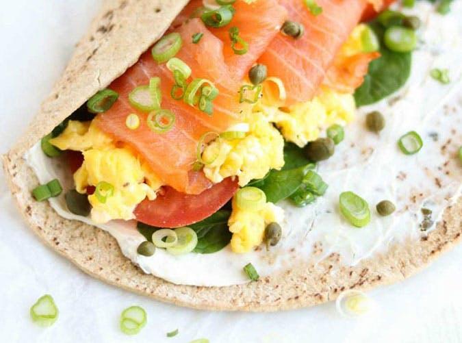 Easy Smoked Salmon Breakfast Wrap Recipe