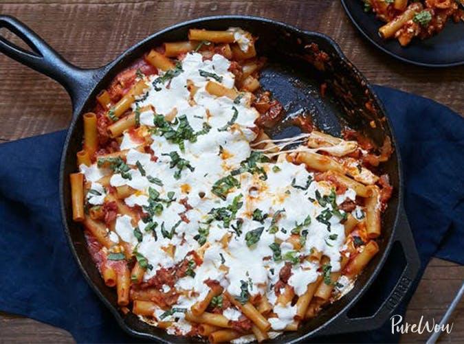 Easy One Pan Baked Ziti november meal ideas