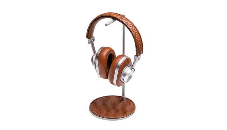 Ermenegildo Zegna MW 60 Pelle Tessuta Aluminum Wireless Headphones and Stand