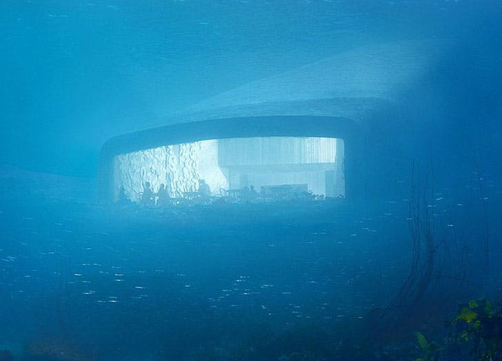 Europes first underwater hotel in Norway