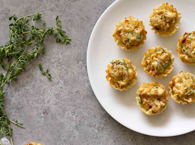 French Onion Tartlettes Party Appetizer