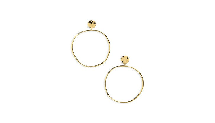 Gorjana gold hammered hoops